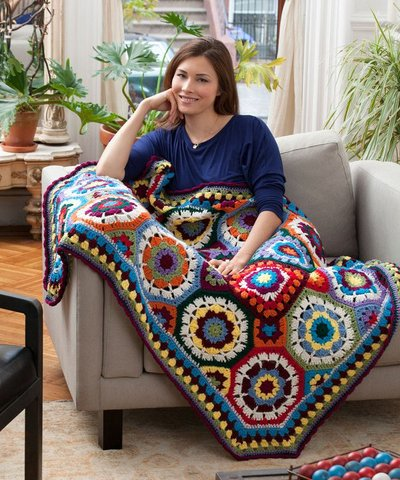 Love Crochet Patterns : Love Color Crochet Afghan AllFreeCrochet.com