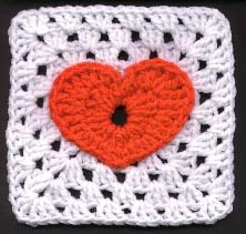 Jackies Heart Granny Square