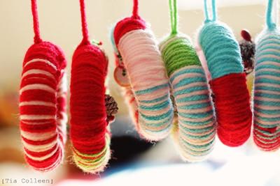 Twister Yarn Wreath Ornaments