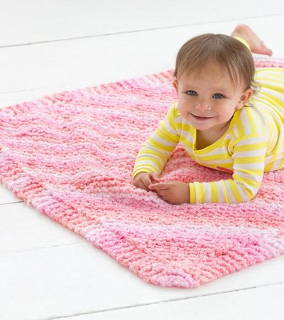 Free Knitting Pattern Cuddle Tight Baby Blanket - Crochet