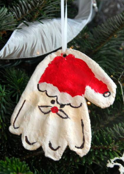 Handprint Mold Santa Ornament