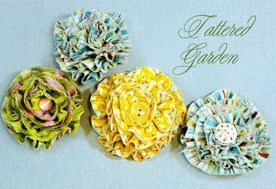 Tattered Flowers for Embellishmen