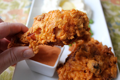 Popeyes Copycat Extra-Crispy Spicy Fried Chicken with Delta Sauce