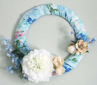 Winter Fabric Wreath