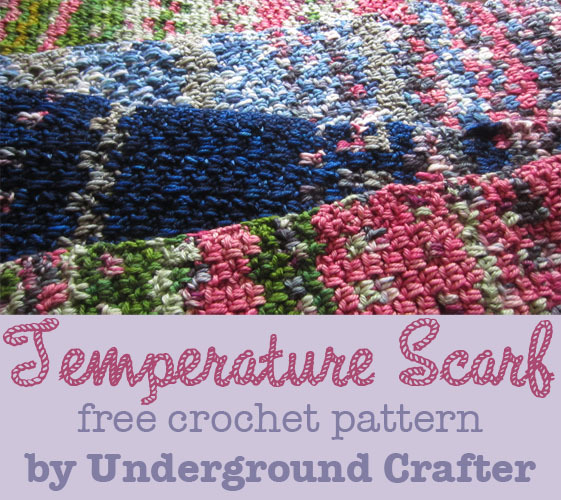 Crochet Patterns For Temperature Blanket : Personalized Temperature Scarf AllFreeCrochet.com
