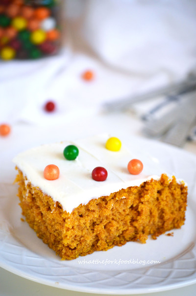 Pumpkin Cake with Cream Cheese Frosting | FaveGlutenFreeRecipes.com