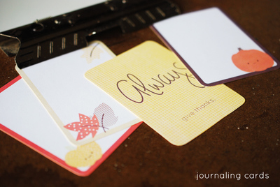 Festive Fall Project Life Cards