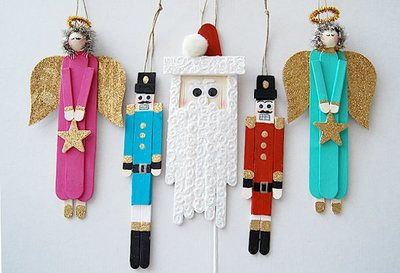 40+ Fun Kids Craft Ideas for Homemade Christmas Decorations