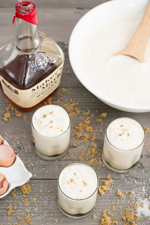 Boozy Bourbon and Eggnog Recipe