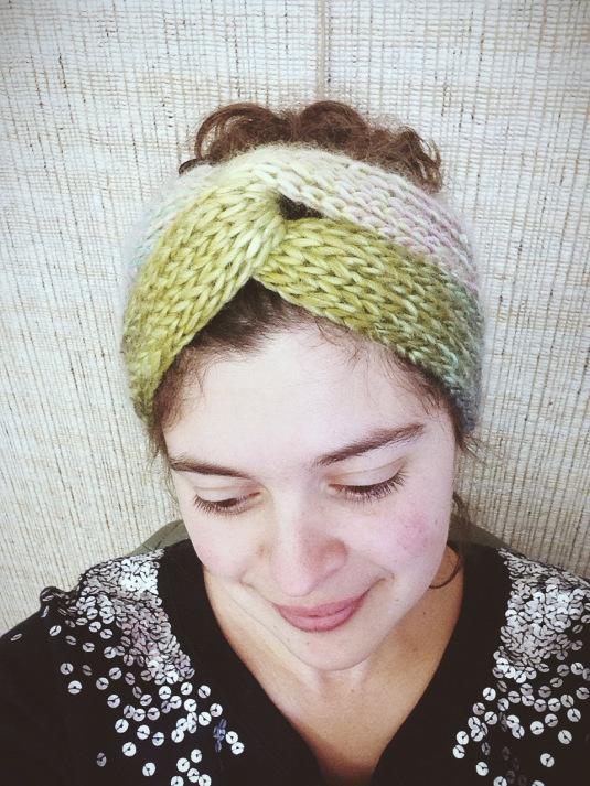 Knitting Pattern Baby Turban : Easy Brioche Turban AllFreeKnitting.com