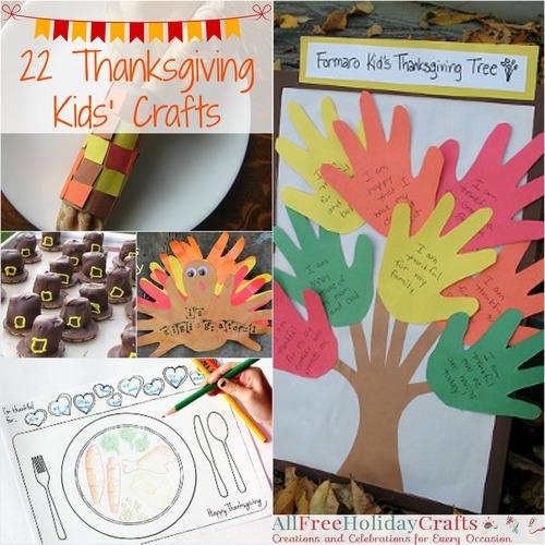 22 Thanksgiving Kids Crafts