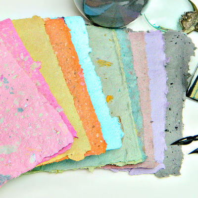 Glossary of different types of paper for How to make recycled paper crafts