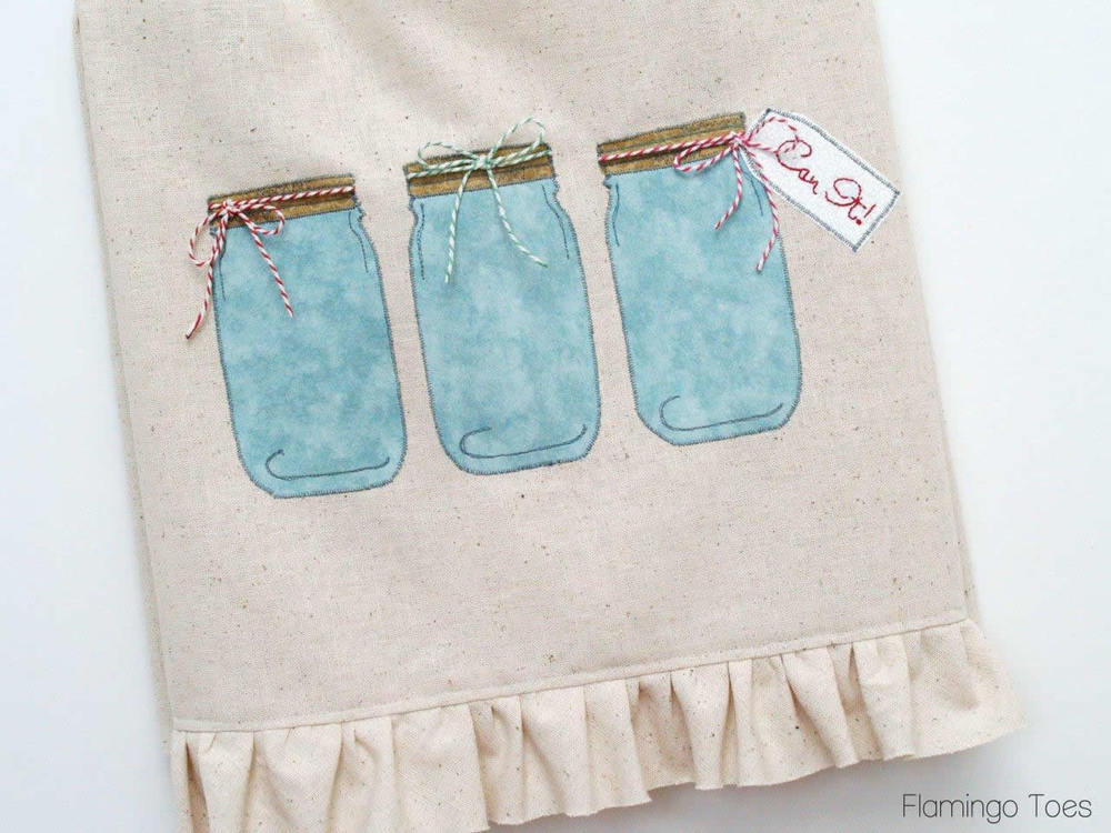 Free wedding dress sewing patterns - Mason Jar Dish Towel Pattern Allfreesewing Com