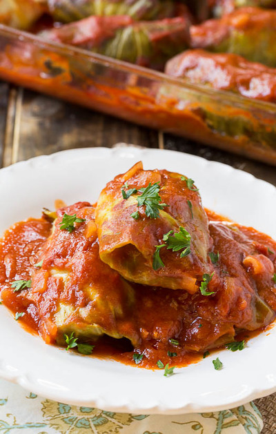 Smothered Stuffed Cabbage Rolls | FaveSouthernRecipes.com
