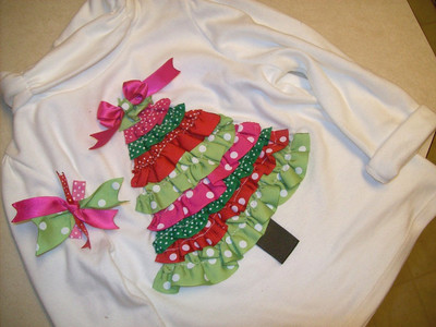 Ruffly Tree Christmas Tee