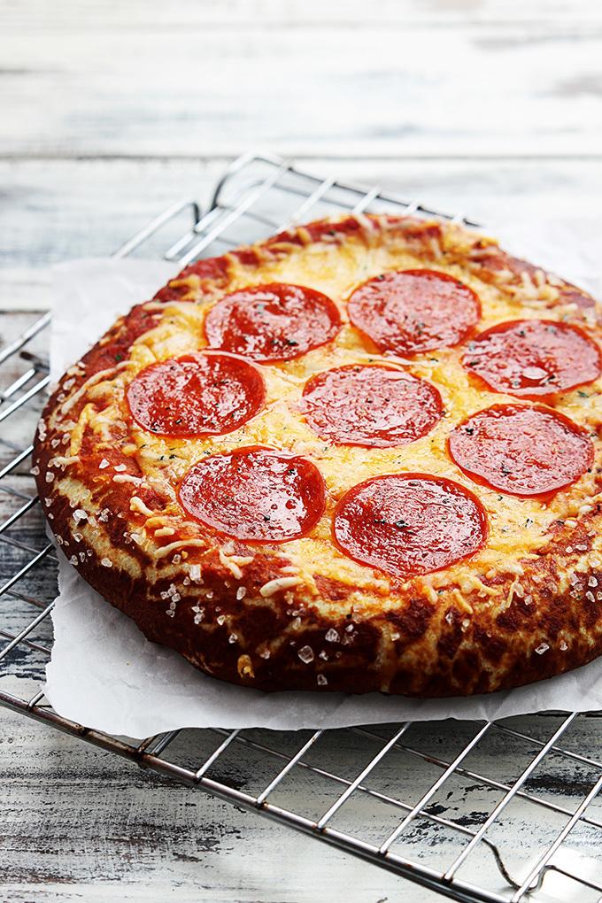 Homemade Pretzel Crust Pizza   AllFreeCopycatRecipes.com