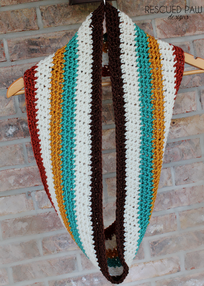 Free Crochet Pattern Striped Scarf : Bold Striped Scarf Pattern AllFreeCrochet.com