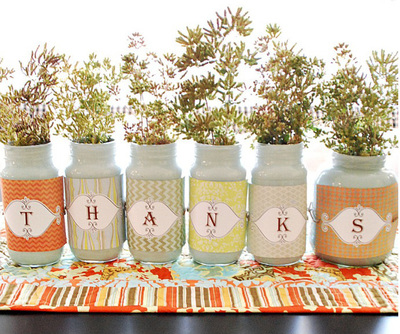 Give Thanks with Recycled Jars