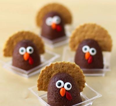 Tiny Chocolate Cheesecake Turkeys