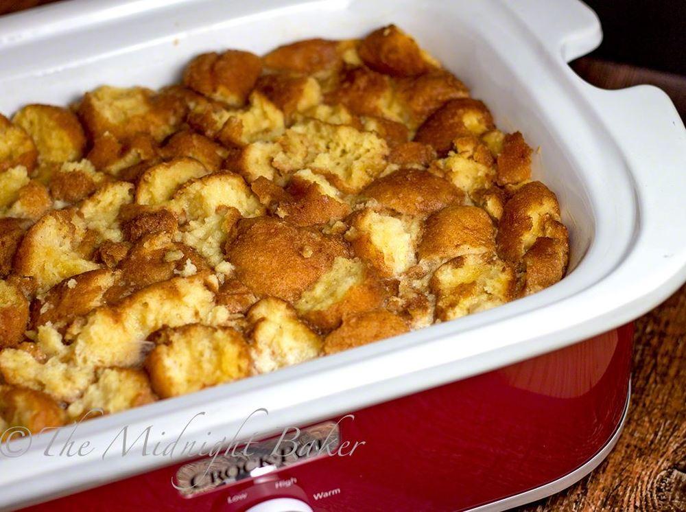 Slow Cooker Doughnut Bread Pudding | RecipeLion.com