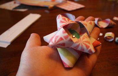 Handmade Christmas Paper Bows