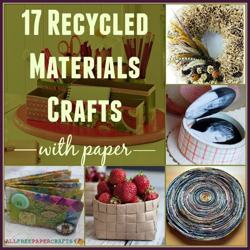 26 recycled materials crafts with paper for Home decor ideas from recycled materials