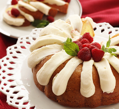 White Chocolate Raspberry Nothing Bundt Cake