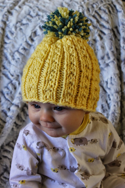 Free Knitting Patterns For Childrens Beanie Hats : Kids Banana Beanie AllFreeKnitting.com