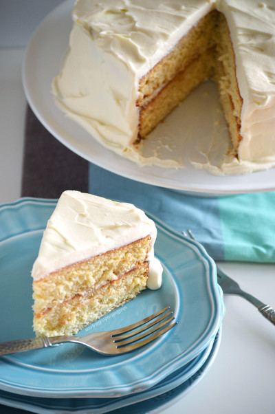 Eggnog Cake with White Chocolate Frosting ...