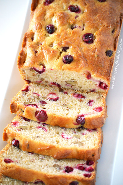 Cranberry Orange Walnut Bread | FaveGlutenFreeRecipes.com