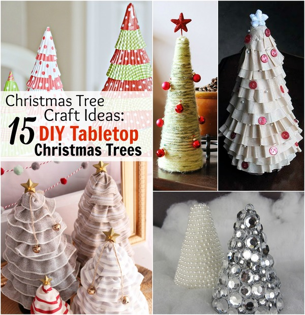 craft ideas 15 diy tabletop christmas tree crafts table of contents