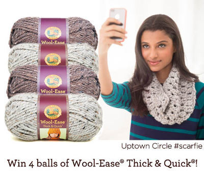 Show Lion Brand Your #Scarfie + Win Free Yarn! - Stitch and Unwind