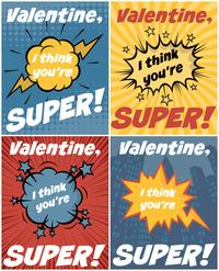 Superhero Free Printable Valentines