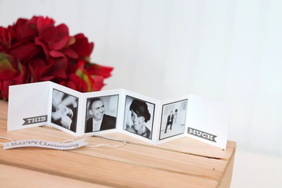 Happy Anniversary Mini Photo Accordion Card
