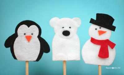 Snowy Friend Finger Puppets