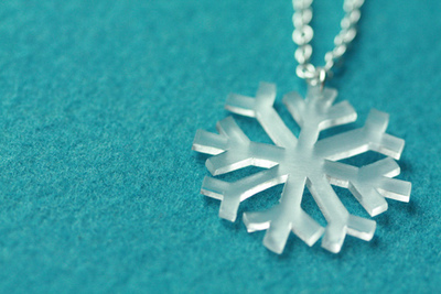 Shrinky Dink Snowflake Necklace