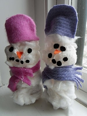 No-Melt Snowmen