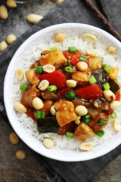 Saucy Slow Cooker Kung Pao Chicken