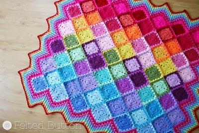 Happy Harlequin Crochet Afghan