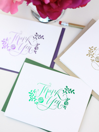 Radiant Metallic Sentiment Greeting Cards