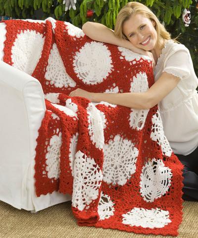 Scandinavian Snowflake Crochet Blanket