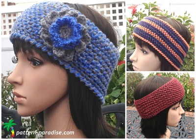 wildly warm crochet headband