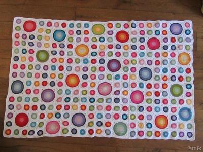 Polka Dot Frenzy Crochet Afghan