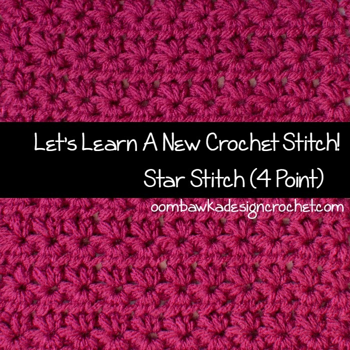 Crochet Stitches V-St : Four Point Star Stitch AllFreeCrochet.com