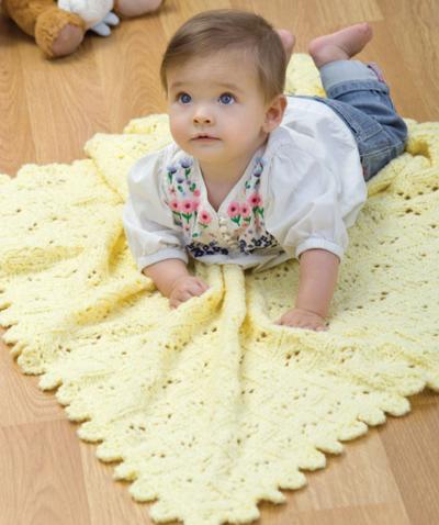 Eyelet Baby Blanket