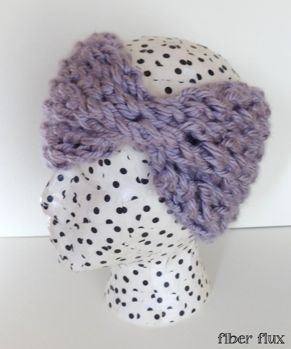 Lace Headband Knitting Pattern Free : Annabelle Lace Headband AllFreeKnitting.com