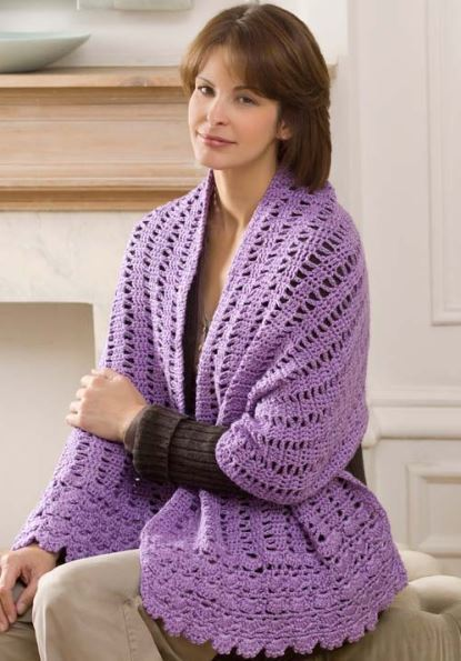 Free Easy Crochet Patterns For Prayer Shawls : Say a Little Prayer Shawl AllFreeCrochet.com
