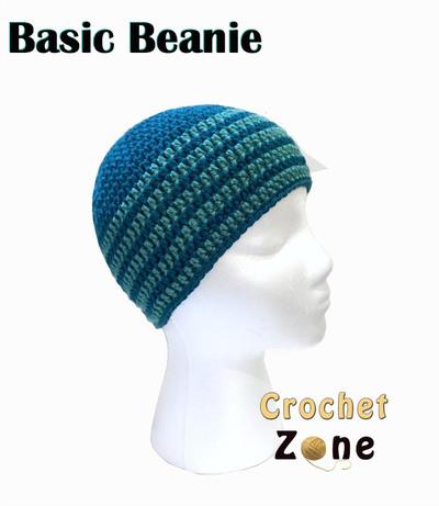 Crochet Beanie Pattern Basic : Basic Crochet Beanie AllFreeCrochet.com
