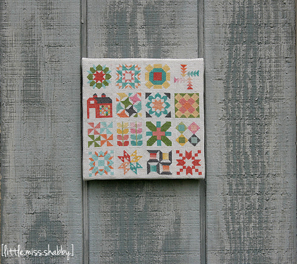 Classic Quilt Block Sampler Cross Stitch FaveQuilts.com