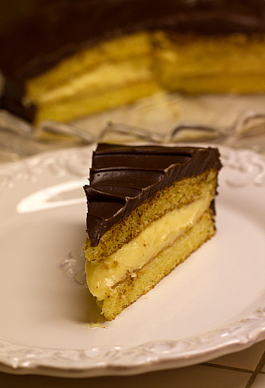 Classic Boston Cream Pie | TheBestDessertRecipes.com